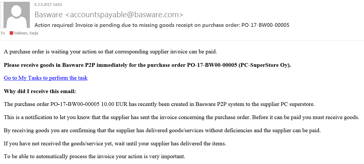 Basware - Knowledge Base Article - Basware Customer Support